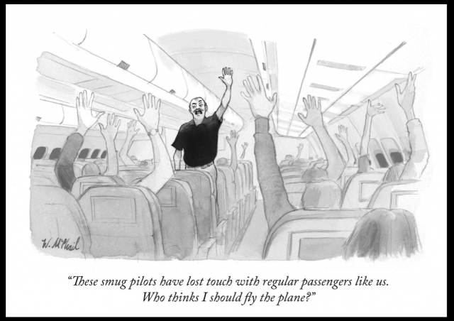New-Yorker-Cartoon-Hands-Up-Airplane-Original-w-border-e1483408184427